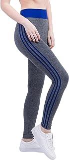 BOZEVON Women's Side Stripe Slimming Gym Leggings ,Elasticity Trouser