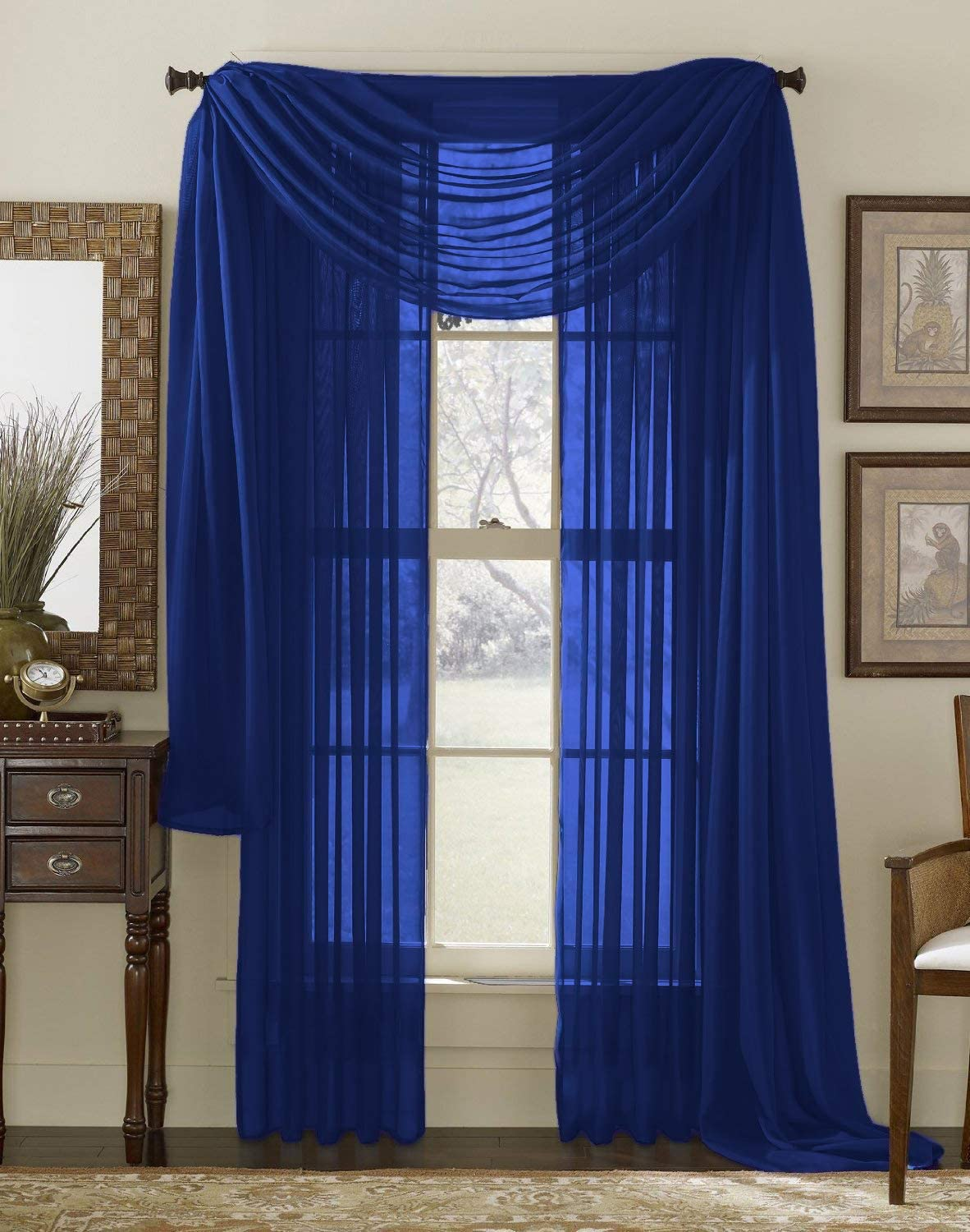 Interior Trends 3 Piece Fully Cheap SALE Start Sheer Stitched Panel Windo Ranking TOP8 Curtain