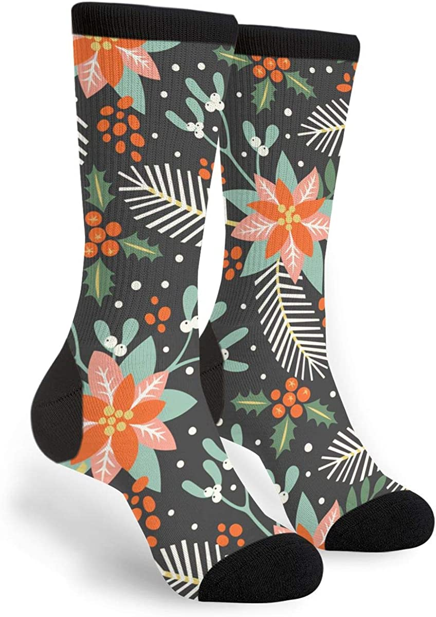 Tropical Flower Novelty Men Women Cool Crazy Funny Sport Colorful Fancy Graphic Crew Tube Casual Socks