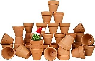 My Urban Crafts 40 Pcs Small Mini Clay Pots 2.1 inch Mini Terracotta Pots Clay Ceramic Pottery Planter Cactus Flower Pots Succulent Nursery Pots for Indoor/Outdoor Mini Plant, Crafts, Wedding Favors