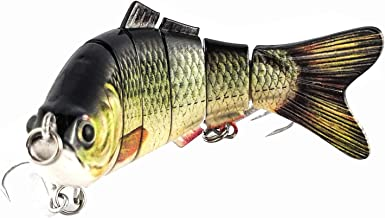 ods lure Fishing Bait with Hooks for Bass Trout Artificial Baits Topwater Hard Lures Jointed Swimbait Pike Musky (Segment Lure)