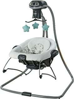 Graco DuetConnect LX Multi-Direction Swing with Portable Bouncer, Oskar