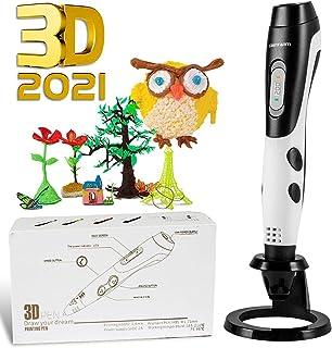 GIANTARM stylo d'impression 3D professionnel stylo 3D + filament PLA 12 couleurs, température/vitesse réglable, cadeaux de...