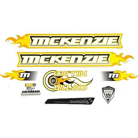 Fahrrad Dekor Satz Aufkleber Rahmen Frame Decal Sticker Mc Kenzie Orange Gelb Weiß Sport Freizeit