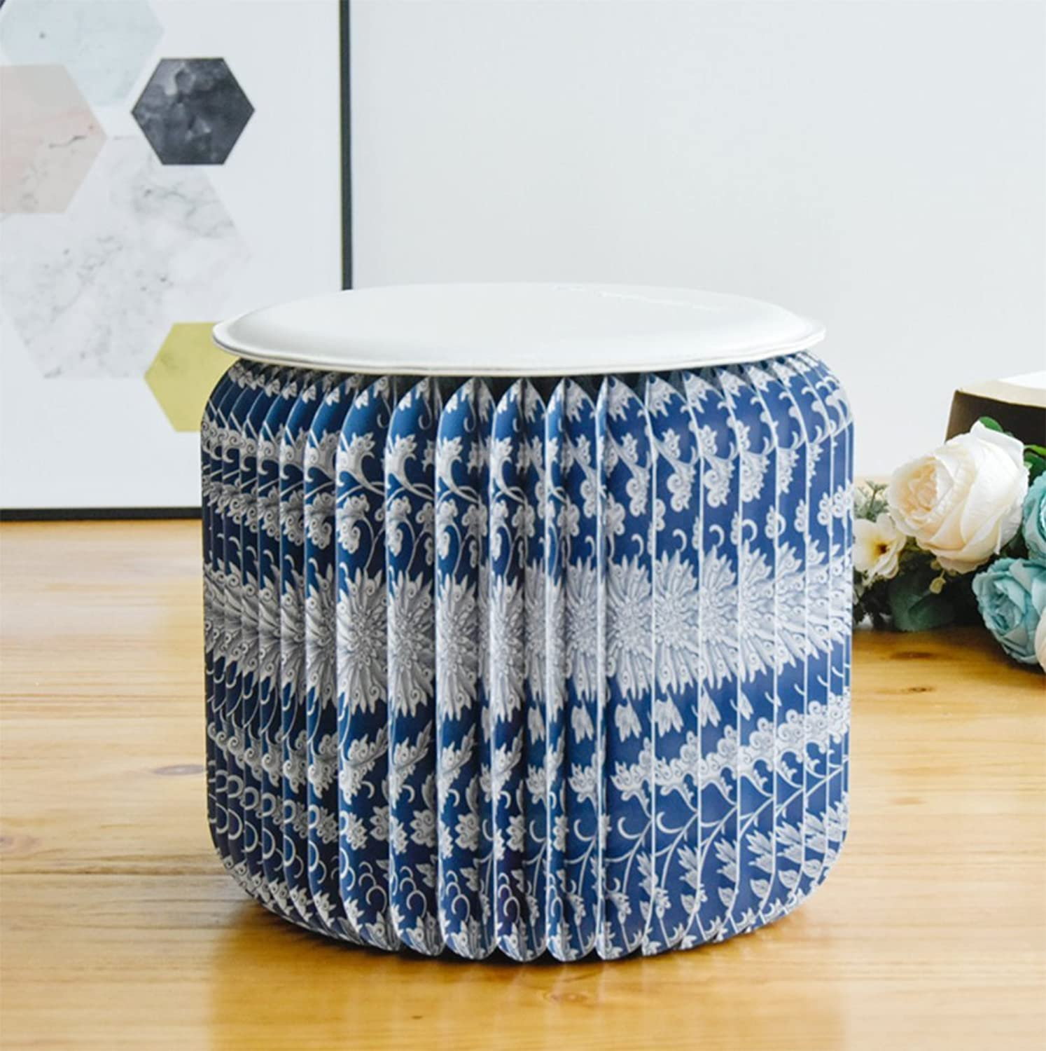 Paper Stool Stool Creative Low Stool Fashion Folding Portable Stool Design Home Living Room Short Coffee Table Stool Furniture