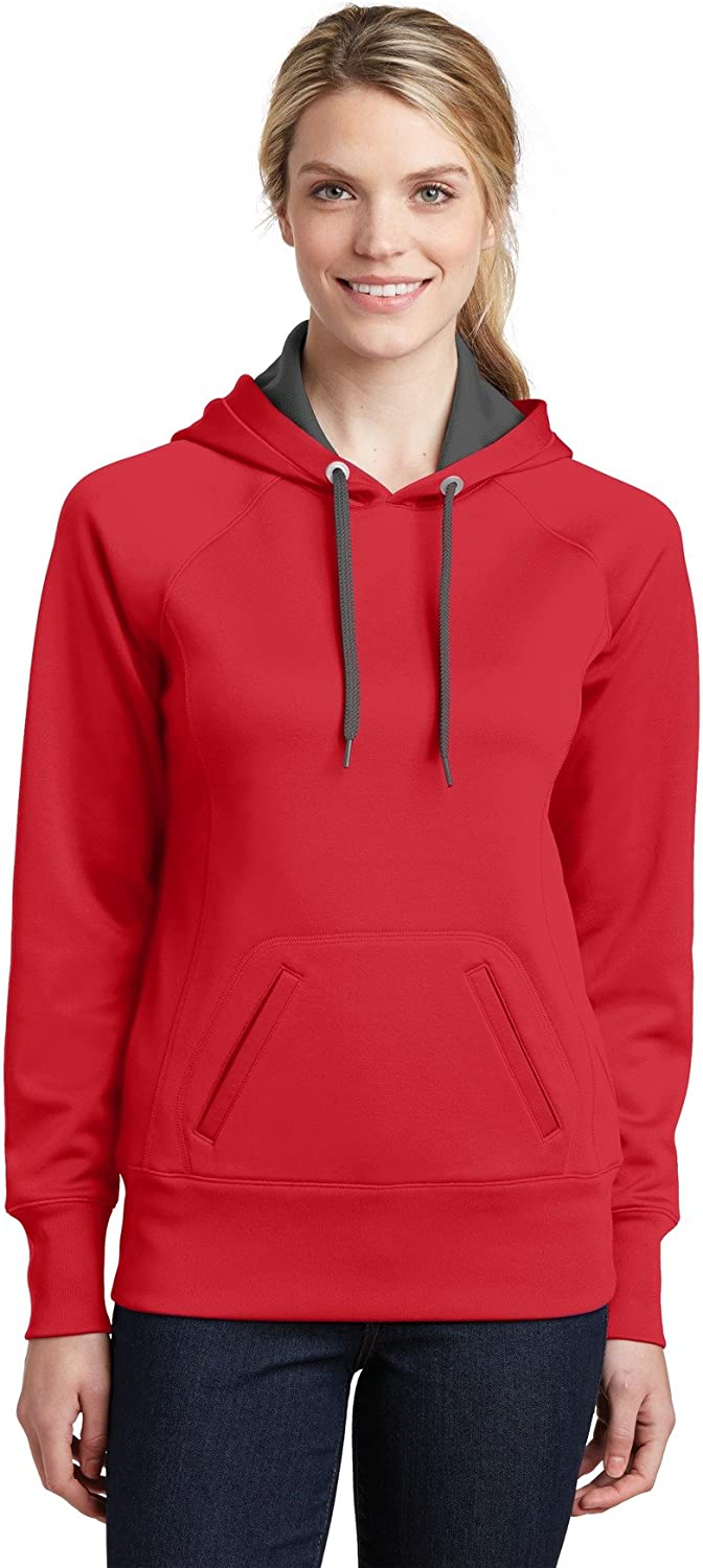 SportTek Womens Tech Fleece Hooded Sweatshirt (LST250) TRUE RED 4XL