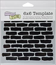 Crafters Workshop 494485 Crafter's Workshop Template, 6 by 6-Inch, Bricks