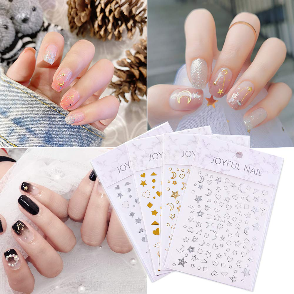 Nail sold out Art Stickers Max 72% OFF Decals Holographic Laser Self Adhesive Meta 3D