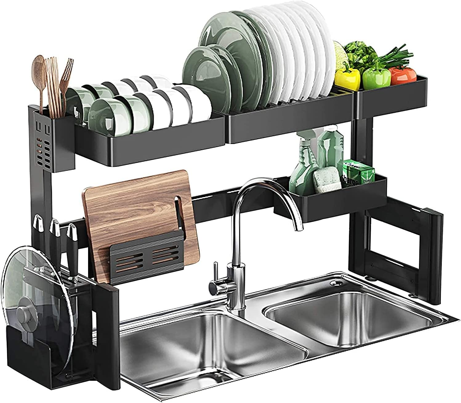 Kitchen Dish Animer and price revision Drying Rack Over 2021new shipping free The Sink 2 Snap-On Design Kit Tier