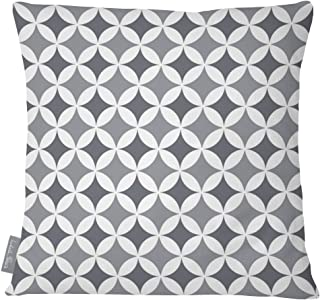 Izabela Peters Designer Luxury Outdoor Cushion Pillow Garden Waterproof Rattan Sofa - Bahia - Gray & Gray -Marrakech Collection - Designed Printed & Handmade in the UK (Choice of Colorway)