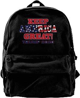 NJIASGFUI Mochila de lona 2020 Keep America Great Rucksack Gym Senderismo portátil bolsa de hombro para hombres y mujeres