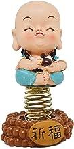 Saubhagya Global Daishin Little Turquoise Buddha Monk with Bobble Head/Nodding Head 8.5CM, Beautiful Car Dashboard Idol, Figurine, Showpiece, Sculpture for Health, Wealth & Prosperity