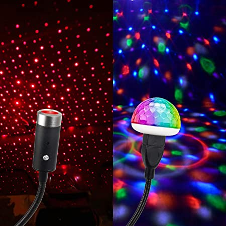 New Plug /& Play Car and Home Ceiling Romantic USB Night Light Starry 2020 D3F9