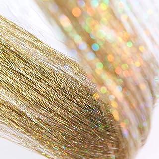 "DANSEE 48"" Hair Tinsel 750+ Strands Kit Sparkling Silk Fairy Hair Shiny Hair Flairs Tinsel Extensions Party Highlights Hai..."