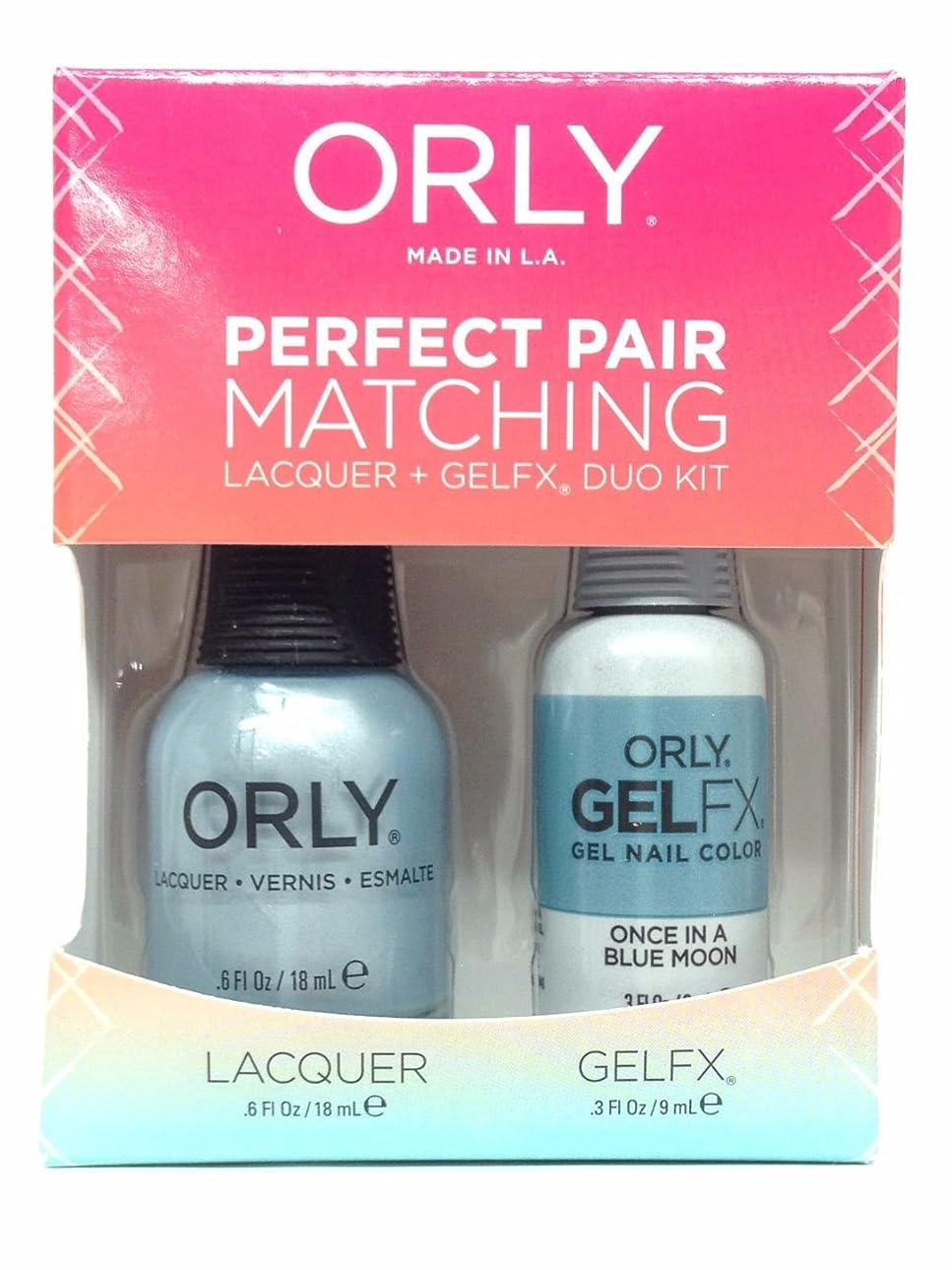 ミル証言する剥ぎ取るOrly Lacquer + Gel FX - Perfect Pair Matching DUO Kit - Once In A Blue Moon