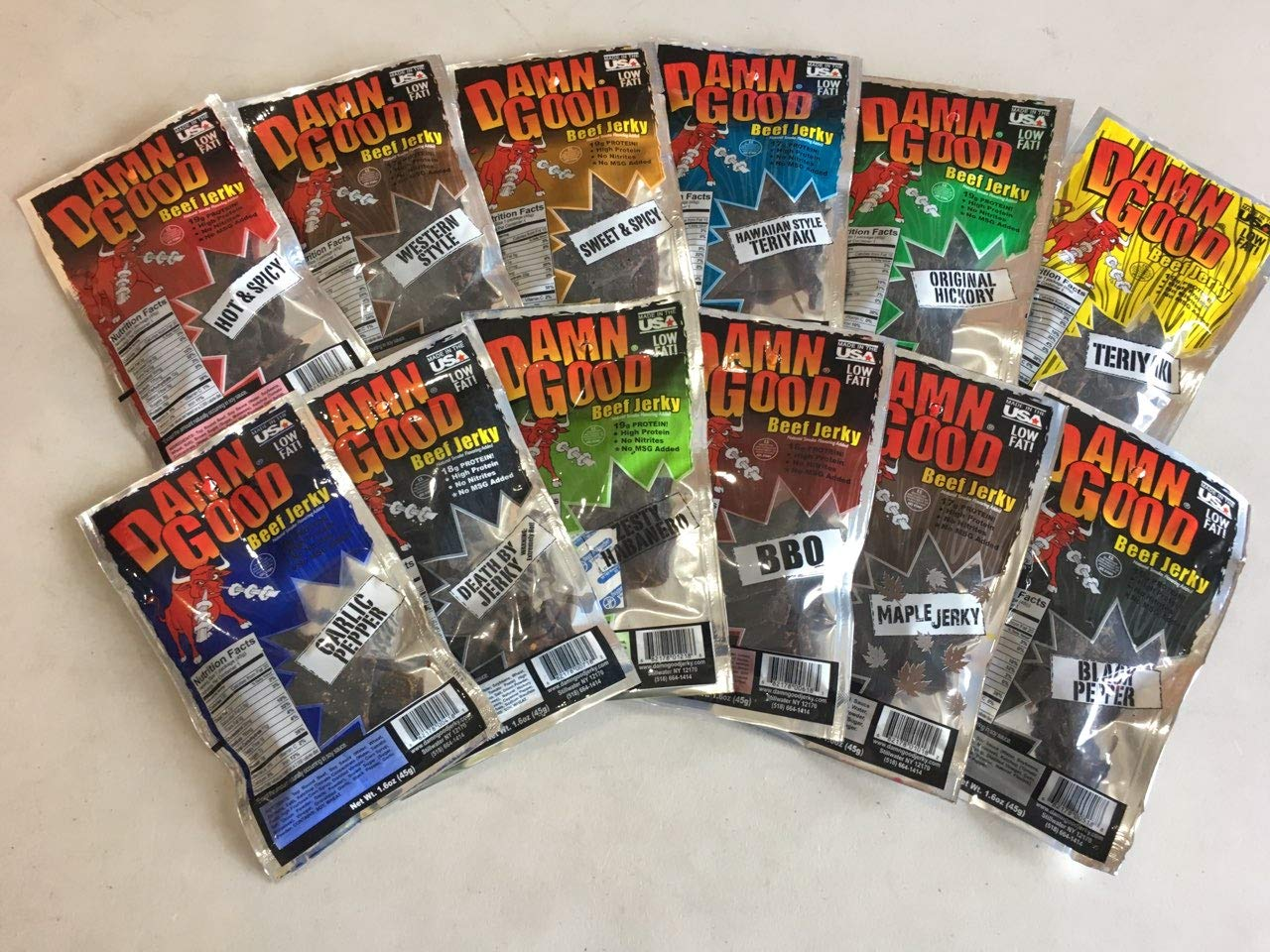 Damn Good Large discharge sale Beef Pack Sample Jerky 55% OFF