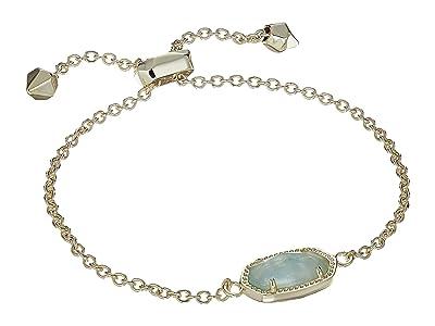 Kendra Scott Elaina Birthstone Bracelet (March/Gold/Light Blue Illusion) Bracelet