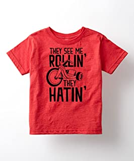 Instant Message They See Me Rollin Funny Tricycle Trike Bike Playground Kids Toddler T-Shirt