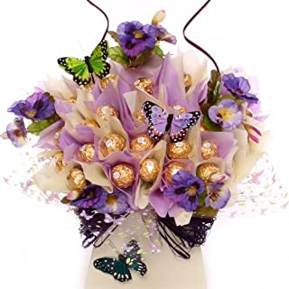 Flowers and Butterfly Rocher Chocolate Candy Bouquet Chocolate Holiday Goodness by Ferrero Rocher