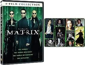 The Matrix: Complete Movie Trilogy and Anime Film DVD (Reloaded / Revolutions / Animatrix) with Bonus Art Card