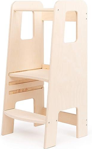 ully by moblì®| la première tour d'apprentissage en bois naturel | Fabriquée en Italie selon les principes Montessori...