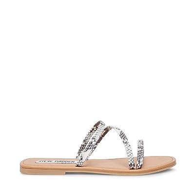 Steve Madden Invest Flat Sandal (Natural Snake) Women
