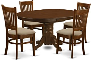 6be42b40e3f9 East West Furniture KEVA5-ESP-C 5 Piece Set Kenley Kitchen Table with One
