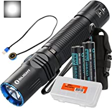 OLIGHT M2R Warrior 1500 Lumen Magnetic USB Rechargeable LED Compact Tactical Flashlight, 2X 3500mAh Rechargeable Batteries, Lumen Tactical Battery Organizer (Cool White/Neutral White Options)