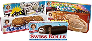 Little Debbies Variety Pack - Nutty Buddy, Oatmeal Creme Pie, Swiss Rolls, and Zebra Cakes - 1 Box of Each