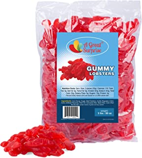 Gummy Candy – Gummy Lobsters – Red Gummy Candy – Red Candy - Bulk Candy – 5 Pounds