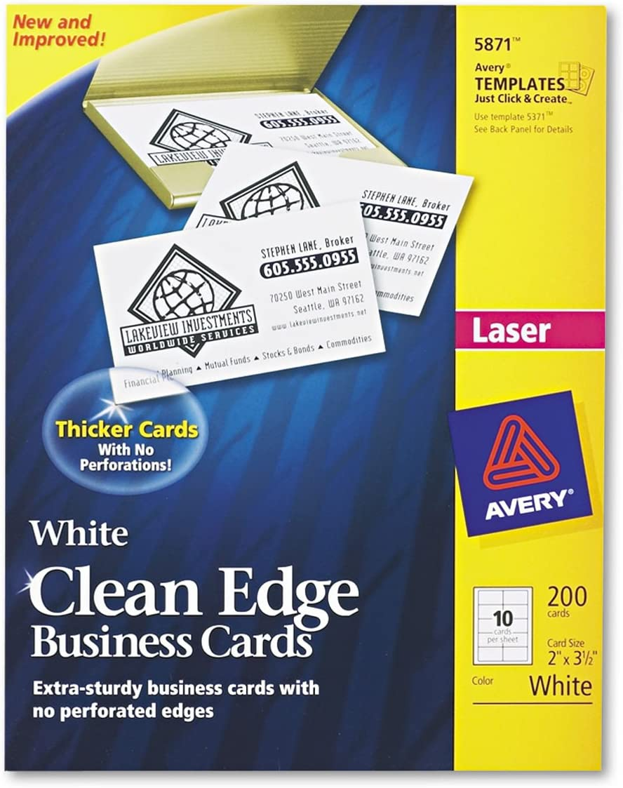 AVE5871 New Shipping Free Shipping Super intense SALE - Avery Clean Edge Business Card