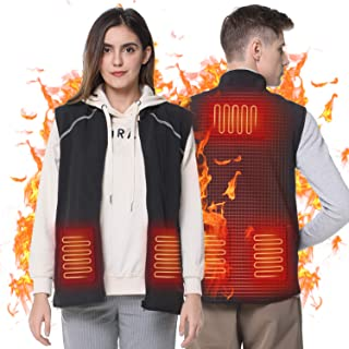 Heating Electric Vest USB Charging Heated Vest Cold-Proof Heating Clothes Washable Suitable for Winter(Battery Not Included)