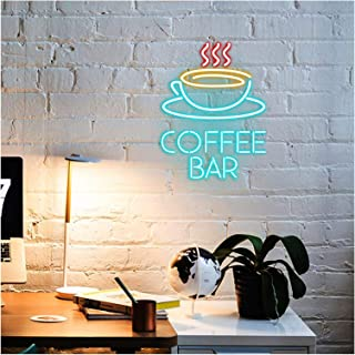 Coffee Bar Neon Signs Lights for Room Decor Light Lamp Bedroom Beer Bar Pub Hotel Party Recreational Game Room Wall Art De...