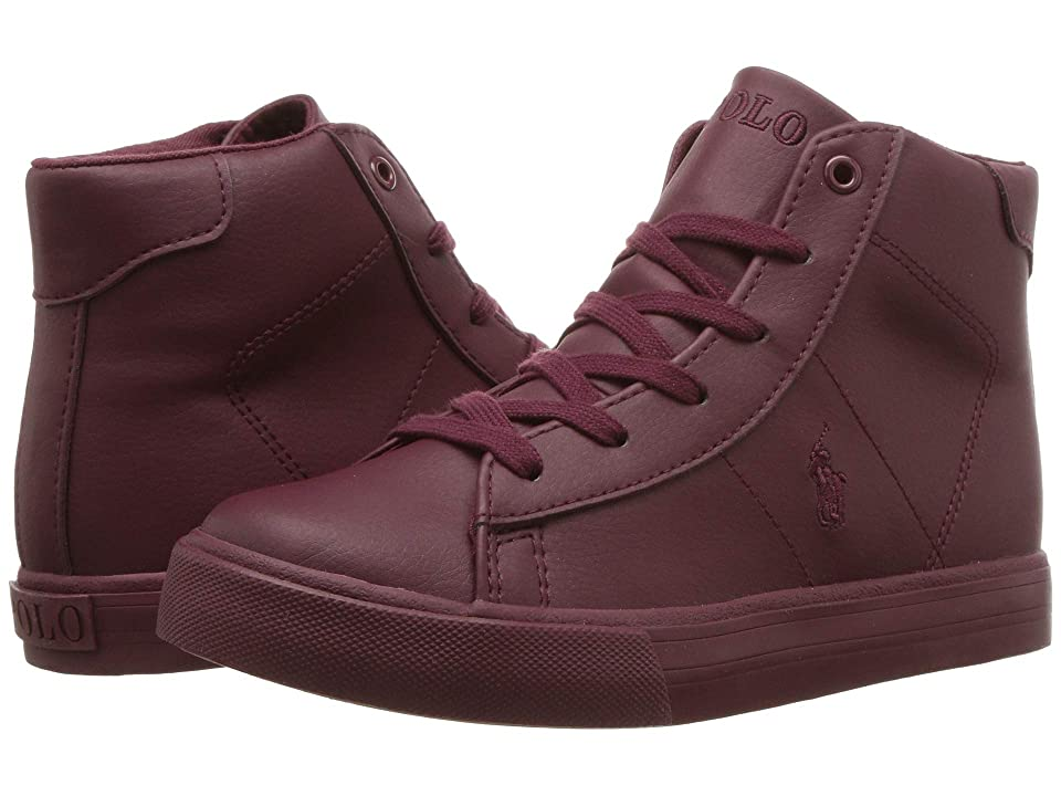 Polo Ralph Lauren Kids Easten Mid (Little Kid) (Triple Burgundy Tumbled) Boy