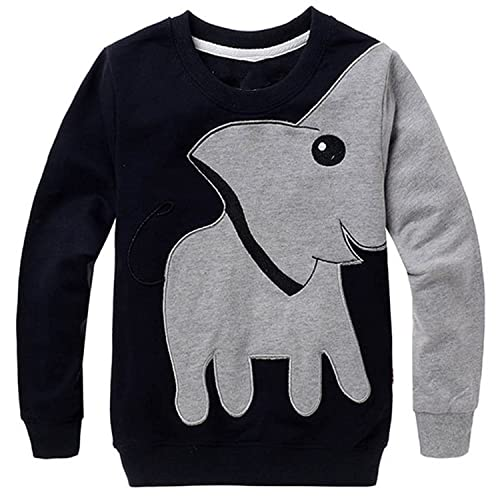 Jomago Boys Shirts Toddler Long Sleeve Top Kids Elephant Tee Sport Sweatshirt