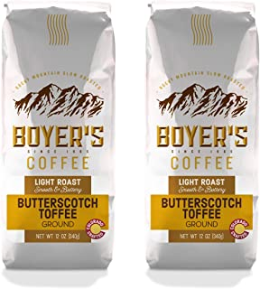 Butterscotch Toffee Flavored Coffee, Ground, 2-Pack (1.5lb)