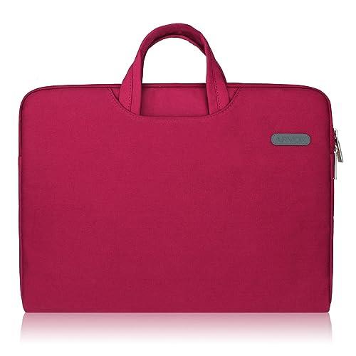 Arvok 15 15.6 16 Inch Water-Resistant Canvas Fabric Laptop Sleeve with Handle&Zipper Pocket/