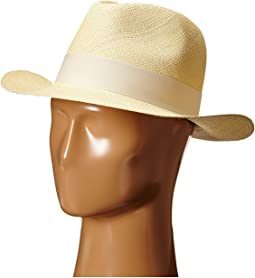 Hat Attack - Original Panama Fedora with Classic Bow Trim