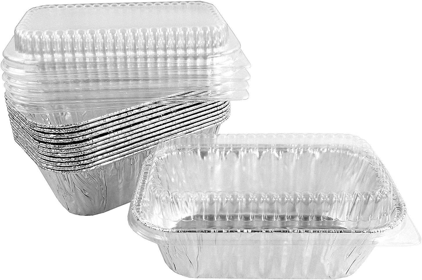 Pactogo Disposable 1 lb. Aluminum Foil with Mini quality assurance Pans Loaf San Diego Mall Clear