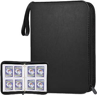 POKONBOY 400 Pockets Baseball Card Binder with Sleeves, Trading Card Binder Protectors Compatible with Pokemen, Football a...