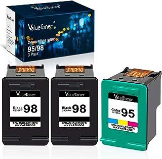 Best Valuetoner Remanufactured Ink Cartridge Replacement for HP 98 C9364WN & 95 C8766WN for Officejet 150 100 6310, PhotoSmart 8050 C4180 C4150, Deskjet 460 5940 Printer (2 Black, 1 Tri-Color, 3 Pack) Review