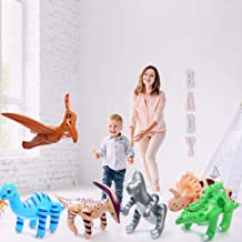 Fun Central BC545 Pack of 6 pcs 24 Inch Inflatable Dinosaurs, Dinosaurs Vinyl, Dinosaur inflatable Pool, Jumbo Dinosaurs -for Children Party Favors, Pool, Prizes, Birthday Gifts, Decorations- Assorted