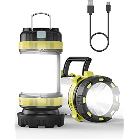 LEDランタン キャンプランタン AKASO 高輝度 USB充電式ランタン テントランタン 防潑水 6点灯モード SOS機能付き 災害グッズ/アウトドア 非常用 停電対策 携帯型 超軽量