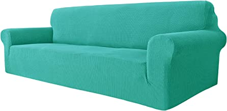 MAXIJIN Super Stretch Couch Cover for 3 Cushion Couch, 1-Piece Universal Sofa Covers Living Room Jacquard Spandex Furnitur...