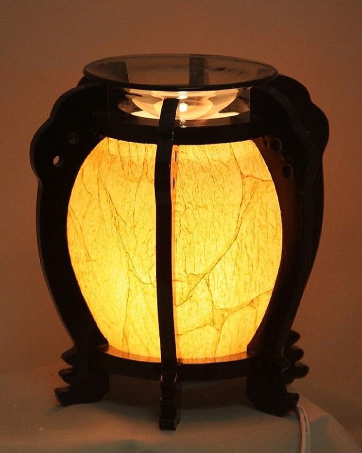 シャンプーなのでグリース木製ラウンド( ew-647?) Electric Fragrance Oil Tart Warmer ( Burner / Warmer /ランプ) withディマースイッチ