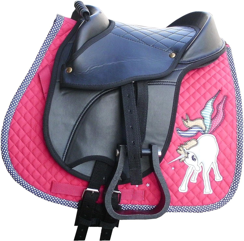 Kids Youth Saddle Set   Shetland Pony Saddle Pad Saddle Hide Covered Pony Pad Set with Pen and Key Ring