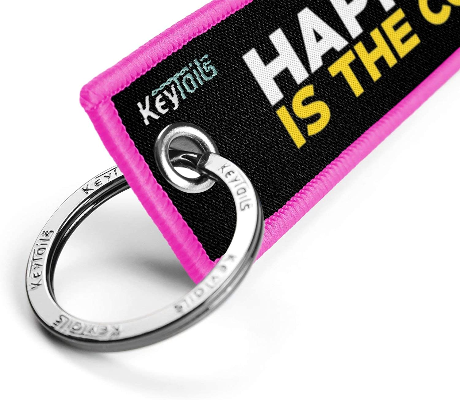Premium Quality Key Tag for Motorcycle KEYTAILS Keychains ATV Happiness is The Corner UTV Car Scooter