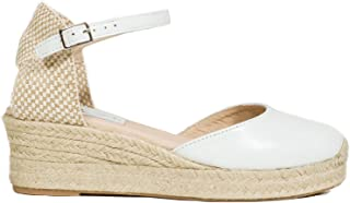 36c1c784 Zapatos miMaO. Zapatos Piel Mujer Hechos EN ESPAÑA. Sandalia Cuña Esparto  Mujer. Cuñas