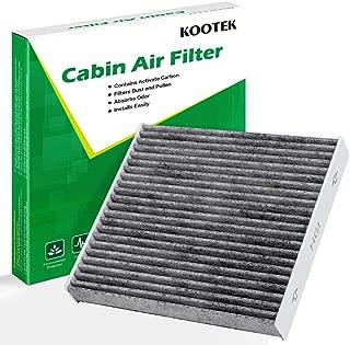 Kootek Cabin Air Filter for CF10285 Toyota/Lexus/Scion/Subaru, Active Carbon Against Bacteria Dust Viruses Pollen Gases Odors AT285