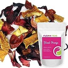 Blood Orange Hibiscus Herbal Fruit Tea - Caffeine Free Loose Leaf Bulk Herbs Citrus and Flowers - 5 Oz Pouch